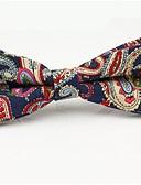 ieftine Cravate & Papioane de Bărbați-Bărbați Bloc Culoare / Imprimeu Paisley Funde Petrecere / De Bază, Bumbac / Poliester - Papion Cravată / Toate Sezoanele