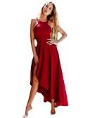tanie Sukienki-Damskie Pochwa Sukienka - Solidne kolory Pasek Asymetryczna