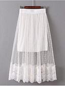 povoljno Ženske suknje-Žene A kroj Izlasci Suknje - Jednobojni Visoki struk