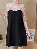 cheap Plus Size Dresses-women's street chic shift dress above knee