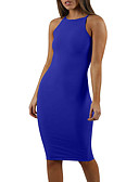 cheap Dresses For Date-Women's Daily Basic Slim Bodycon Dress - Solid Colored Strap Black Wine Royal Blue M L XL / Sexy