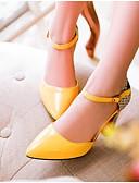 رخيصةأون كنزات نسائية-للمرأة أحذية PU صيف مريح كعوب كعب ستيلتو أبيض / أسود / أصفر