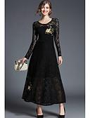 cheap Women's Dresses-Women's Daily / Work Maxi Slim Sheath Dress High Waist Summer Black L XL XXL