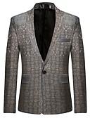 ieftine Blazer & Costume de Bărbați-bumbac bărbați blazer-imprimare tricou guler