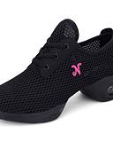 cheap Women's T-shirts-Women's Dance Sneakers Mesh Sneaker Cuban Heel Dance Shoes Black / Peach / Red