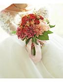 olcso Menyasszonyi ruhák-Esküvői virágok Csokrok Esküvő / Menyegző Szatén / Textíliák 11-20 cm