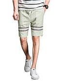 cheap Women's Pants-Men's Basic Shorts Pants - Striped