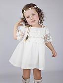 povoljno Haljine za djevojčice-Dijete koje je tek prohodalo Djevojčice Jednobojni Kratkih rukava Haljina