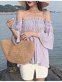 זול טרנינגים וקפוצ'ונים לנשים-אחיד סירה רחב ליציאה / חוף טישרט - בגדי ריקוד נשים