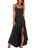 ieftine Dresses For Date-Pentru femei Petrecere Zvelt Sirenă Rochie - Bufantă, Mată Cu Bretele Asimetric Negru