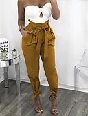 povoljno Ženske hlače-Žene Osnovni Chinos Hlače Jednobojni