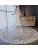 """זול הינומות חתונה-שכבה אחת סגנון פרח / שבכה / שמלה הניתנת להמרה הינומות חתונה צעיפי קפלה עם סגנון מוטיב פרחוני מפוזר ביד 118.11 אינץ' (300 ס""""מ) טול / חיתוך זווית / מפל"""