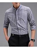 זול חולצות לגברים-חולצת גברים - צווארון חולצת פסים