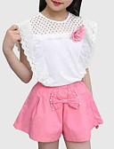 billige Poloskjorter til herrer-Barn Jente Gatemote Ut på byen Blomstret / Lapper Lapper Kortermet Tøysett