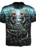 ieftine Maieu & Tricouri Bărbați-Bărbați Tricou Schelet / Activ - Geometric / Cranii