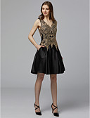 cheap Women's Blazers-A-Line V Neck Short / Mini Lace / Tulle Vintage Inspired Cocktail Party Dress with Appliques by TS Couture®