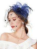 billige Hårpynt til damer-Dame Vintage / Elegant Hårklemme / fascinator - Blomst / Netting, Ensfarget
