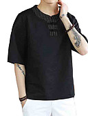 ieftine Maieu & Tricouri Bărbați-Bărbați Rotund Tricou Mată / Manșon scurt