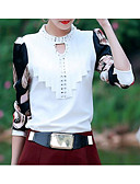 cheap Women's Sweaters-women's blouse - geometric stand