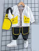 cheap Baby Girls' Clothing Sets-Baby Boys' Blue & White Print Long Sleeve Clothing Set