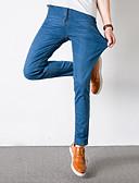 billige Undertøy og sokker til herrer-Herre Bomull Jeans Bukser Ensfarget