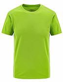 abordables Camisetas y Tops de Hombre-Hombre Básico Deportes Camiseta, Escote Redondo Un Color / Manga Corta