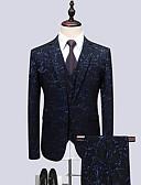 preiswerte Herrenhemden-Herrn-Geometrisch Business Formal Party Anzüge,Gekerbtes Revers / Langarm