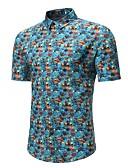 cheap Men's Shirts-Men's Active Shirt - Floral / Color Block Daisy, Print