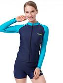 رخيصةأون ساعات موضة-للمرأة بدلات الغطس العميق SPF30, حماية من الأشعة فوق البنفسجية, خفيف جدا (UL) بوليستر / نايلون / سباندكس كم طويل ملابس السباحة ملابس الشاطئ سترات للغوص بقع سباحة / تزلج على الماء / شاطئ / سريع جاف