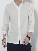 tanie Męskie koszule-Koszula Męskie Wzornictwo chińskie Solidne kolory