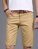 זול מכנסיים ושורטים לגברים-בגדי ריקוד גברים כותנה רזה צ'ינו / שורטים מכנסיים אחיד