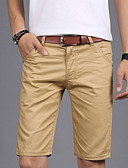 ieftine Pantaloni Bărbați si Pantaloni Scurți-Bărbați Bumbac Zvelt Pantaloni Chinos / Pantaloni Scurți Pantaloni Mată