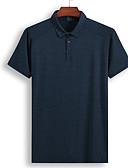 abordables Ropa Interior y Calcetines de Hombre-Hombre Polo, Cuello Camisero Un Color / Manga Corta