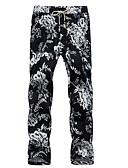 זול מכנסיים ושורטים לגברים-בגדי ריקוד גברים פשתן גדול צ'ינו מכנסיים גיאומטרי / סוף שבוע