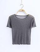 ieftine Tricou-Pentru femei Tricou Ieșire Mată