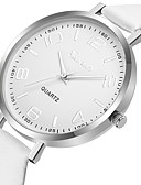 ieftine Quartz-Geneva Pentru femei Ceas Elegant Ceas de Mână Quartz Model nou Ceas Casual Cool Piele Bandă Analog Casual Modă Negru / Alb / Roșu - Negru Maro Rosu Un an Durată de Viaţă Baterie