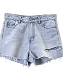 povoljno Ženske hlače-Žene Osnovni Traperice / Kratke hlače Hlače Jednobojni