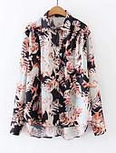 ieftine Bluză-Pentru femei Guler Cămașă Cămașă Bumbac Floral