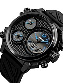 cheap Sport Watches-Men's Sport Watch Japanese Chronograph / Water Resistant / Water Proof / Large Dial PU Band Luxury / Creative Black / Two Years / Sony SR626SW+CR2025