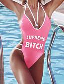 cheap Women's Swimwear & Bikinis-Women's One-piece - Letter Backless / Print Cheeky