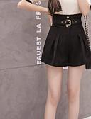 זול מכנסיים לנשים-בגדי ריקוד נשים פעיל מידות גדולות שורטים מכנסיים אחיד שחור ואדום
