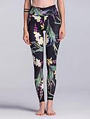 ieftine Leggings-Pentru femei Sport Legging - Floral, Imprimeu Talie Înaltă