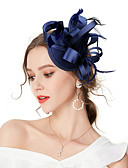 cheap Fashion Headpieces-Women's Vintage / Elegant Headband / Hair Clip / Fascinator - Solid Colored Bow