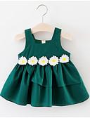 זול שמלות לתינוקות-שמלה כותנה ללא שרוולים גיאומטרי פעיל בנות תִינוֹק / פעוטות
