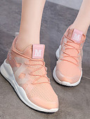 povoljno Ženske haljine-Žene Sneakers / Casual cipele Guma Sposobnost / Trčanje Ultra Light (UL), Prozračnost Synthetic leather Obala / Crn / Pink