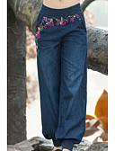 זול 2017ביקיני ובגדי ים-בגדי ריקוד נשים כותנה משוחרר הארם / ג'ינסים מכנסיים אחיד / פרחוני