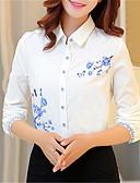 baratos Blusas Femininas-Mulheres Blusa Sólido Colarinho de Camisa