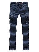 זול חולצות פולו לגברים-בגדי ריקוד גברים כותנה רזה ג'ינסים מכנסיים אחיד / אנא בחר\י מידה אחת גדולה יותר מהמידה הנורמלית שלך.