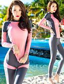 זול 2017ביקיני ובגדי ים-בגדי ריקוד נשים חליפת בגד גוףחליפת צלילה הגנה מפני השמש UV, ייבוש מהיר, UPF50+ ניילון גוף מלא בגדי ים ביגוד חוף מגן מפריחה 3חלקים שחייה / צלילה / שנרקול