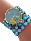 cheap Men's Ties & Bow Ties-Xu™ Women's Dress Watch / Wrist Watch Chinese Creative / Casual Watch / Imitation Diamond PU Band Flower / Fashion Black / White / Blue / Large Dial / One Year